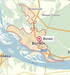 карта волжск